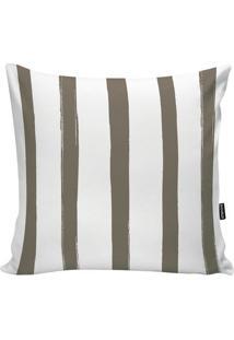 Capa De Almofada Stripes- Branca & Bege Escuro- 45X4Stm Home