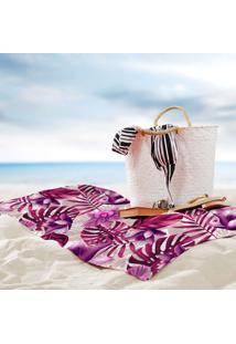 Toalha De Praia / Banho Floral Tropical