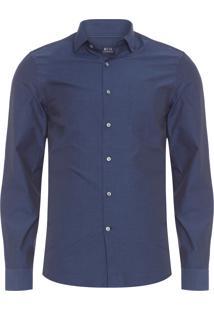 Camisa Masculina Traveller Fio A Fio - Azul