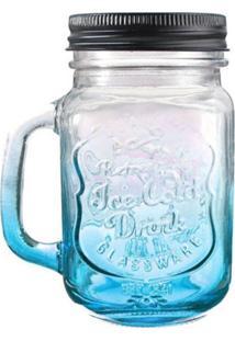 Caneca Dagg Jarra De Vidro Ice Cold Drink 500Ml Azul Degradê