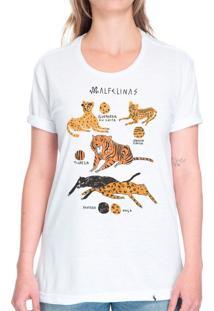 Malfelinas - Camiseta Basicona Unissex
