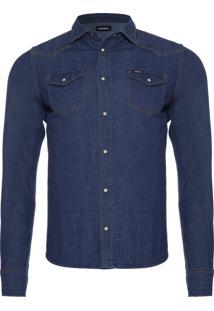 Camisa Masculina New Sonora - Azul