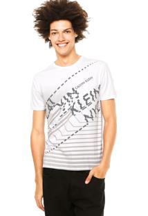 Camiseta Calvin Klein Jeans Estradas Branca