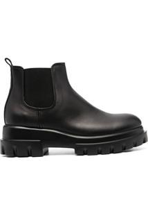Agl Ankle Boot Com Solado Chunky - Preto