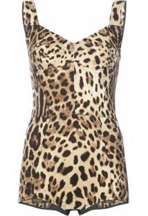 Dolce & Gabbana Body Animal Print - Marrom