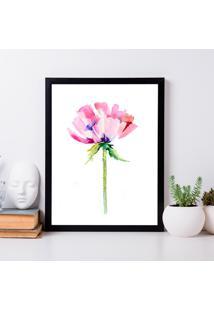 Quadro Decorativo Com Moldura Pink Flower