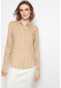 Camisa Lisa - Bege - Mobmob