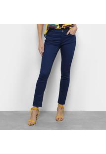 f8d5fddd2 Ir para a loja  Calça Skinny Morena Rosa Sarja Cintura Média Feminina -  Feminino-Marinho
