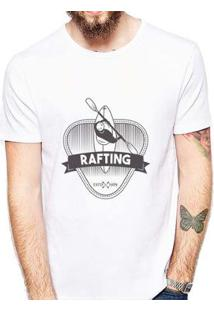 Camiseta Coolest Rafting Masculina - Masculino-Branco