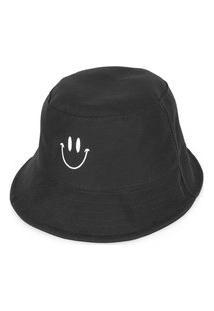 Chapeu Bucket Guido Clothes Com Estampa Smile Preto