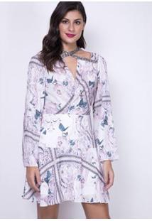 Vestido Fluído Curto Lança Perfume - Feminino-Rosa