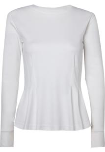 Blusa Le Lis Blanc Cris Malha Algodão Off White Feminina (Off White, Pp)