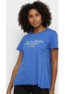 Camiseta Coca Cola Love Feminina - Feminino-Azul