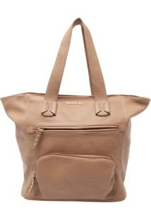 Bolsa Butterfly Tote Bag Pespontos Bege