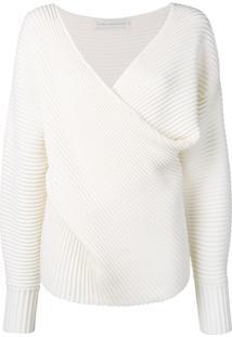 Victoria Victoria Beckham Suéter Drapeado - Branco