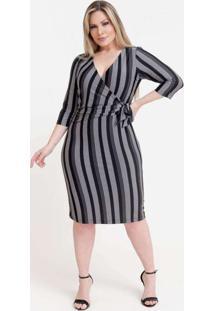 Vestido Longuete Almaria Plus Size Pianeta Transpa