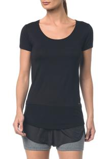 Camiseta Athletic Ck Recorte Tule Barra - Preto - Pp