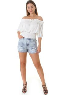 Blusa Opera Rock Cigana Off White