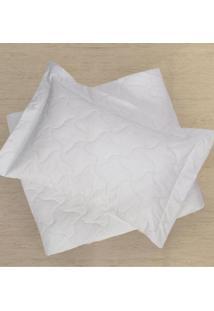 Porta Travesseiro Matelado Branco 50X70Cm - Clã¡Ssica Plus - Teka - Multicolorido - Dafiti