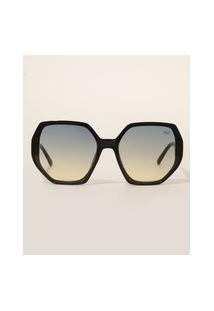 Óculos De Sol Feminino Geométrico Yessica Preto