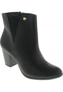 Bota Ankle Boots Via Marte Feminina - Feminino-Preto