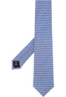 Gieves & Hawkes Gravata De Seda Com Padronagem - Azul