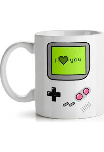 Caneca Gamer I Love You Geek10 Branco