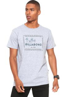 Camiseta Billabong Container Cinza