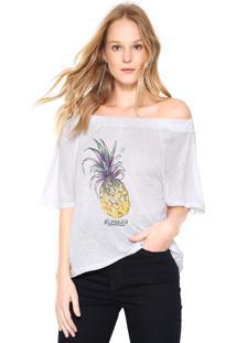 Camiseta Ana Hickmann Ombro A Ombro Off-White