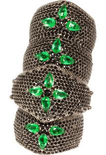 Anel Art Black Jewelry 1.400 Stones By La Madame Co