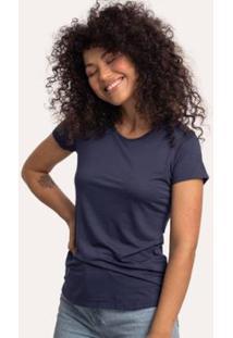 Camiseta Cora Básico Decote Redondo Feminina - Feminino