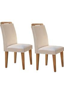 Cadeira Rufato Athenas Mdf Imbuia (2 Uni) Creme