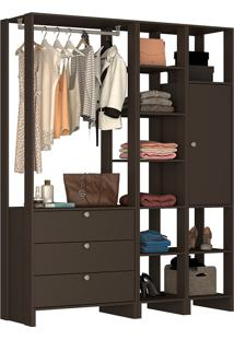 Guarda-Roupa Modulado Closet 10247 - Nova Mobile - Grafite Intenso