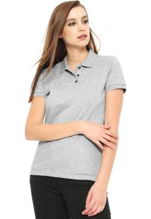 f42e70d10f Camisa Pólo Cinza Listrado feminina