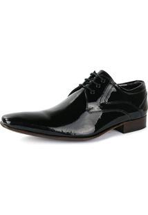 Sapato Social Bigioni Verniz Com Cadarço Preto