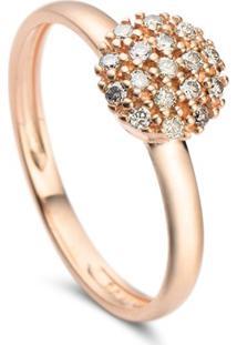 Anel Ouro Rosã© E Diamantes