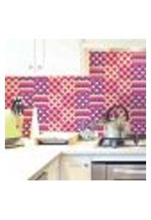 Papel De Parede Autocolante Rolo 0,58 X 5M - Azulejo Abstrato Zigzag 286126547