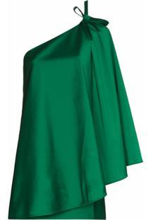 Bernadette One-Shoulder Minidress - Verde
