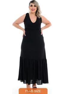 Vestido Maxi Decote Festa Plus Size5847894
