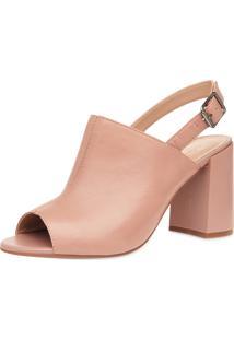 Sandália Corello Boot Couro Rosa