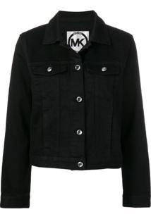 Michael Michael Kors Jaqueta Jeans - Preto