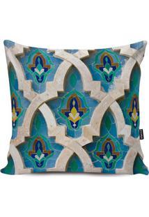 Capa Para Almofada Impermeável Turkish- Azul & Bege Clarstm Home