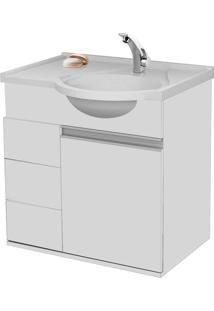 Gabinete C/ Pia New Aspen 64Cm Branco Bonatto