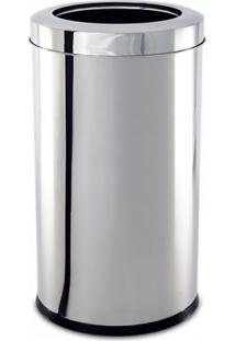 Lixeira Aço Inox Com Aro Decorline 25X46Cm Brinox 3033/203