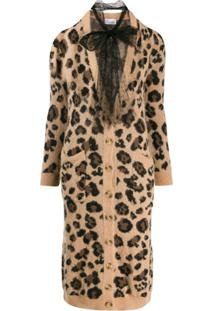 Red Valentino Cardigan Animal Print - Neutro