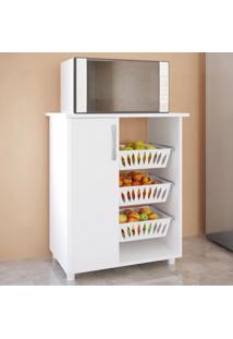 Armário De Cozinha Fruteira Para Forno 1 Porta 0261 Branco - Genialflex