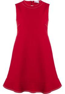 Red Valentino Vestido Com Recortes Vazados - Vermelho