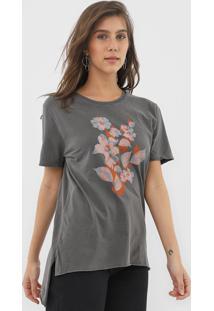Blusa Calvin Klein Jeans Floral Cinza - Cinza - Feminino - Algodã£O - Dafiti