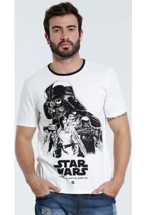 Camiseta Masculina Estampa Star Wars Disney