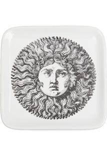 Fornasetti Cinzeiro De Porcelana Quadrado - Preto